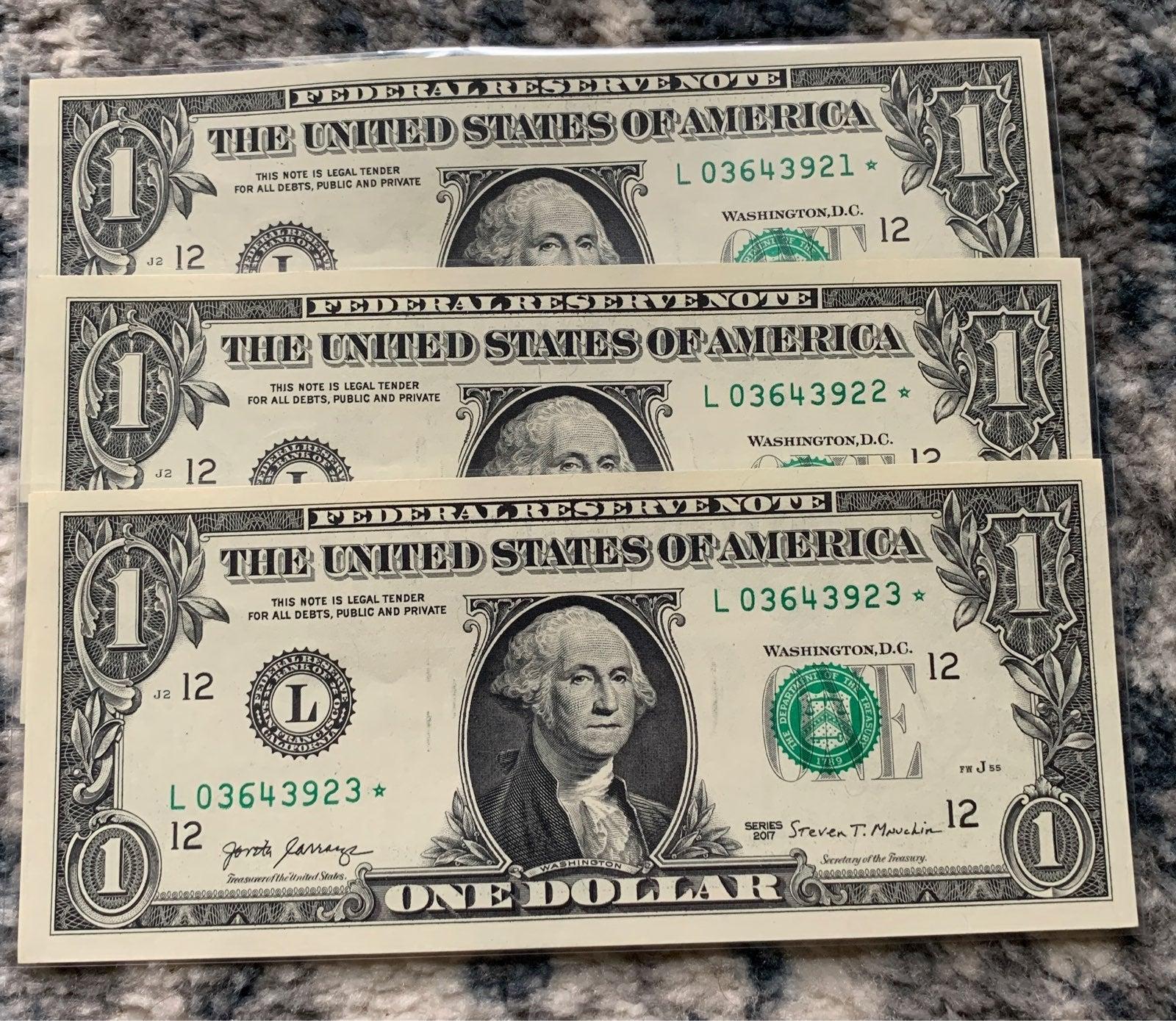 Star bills* Consecutive's