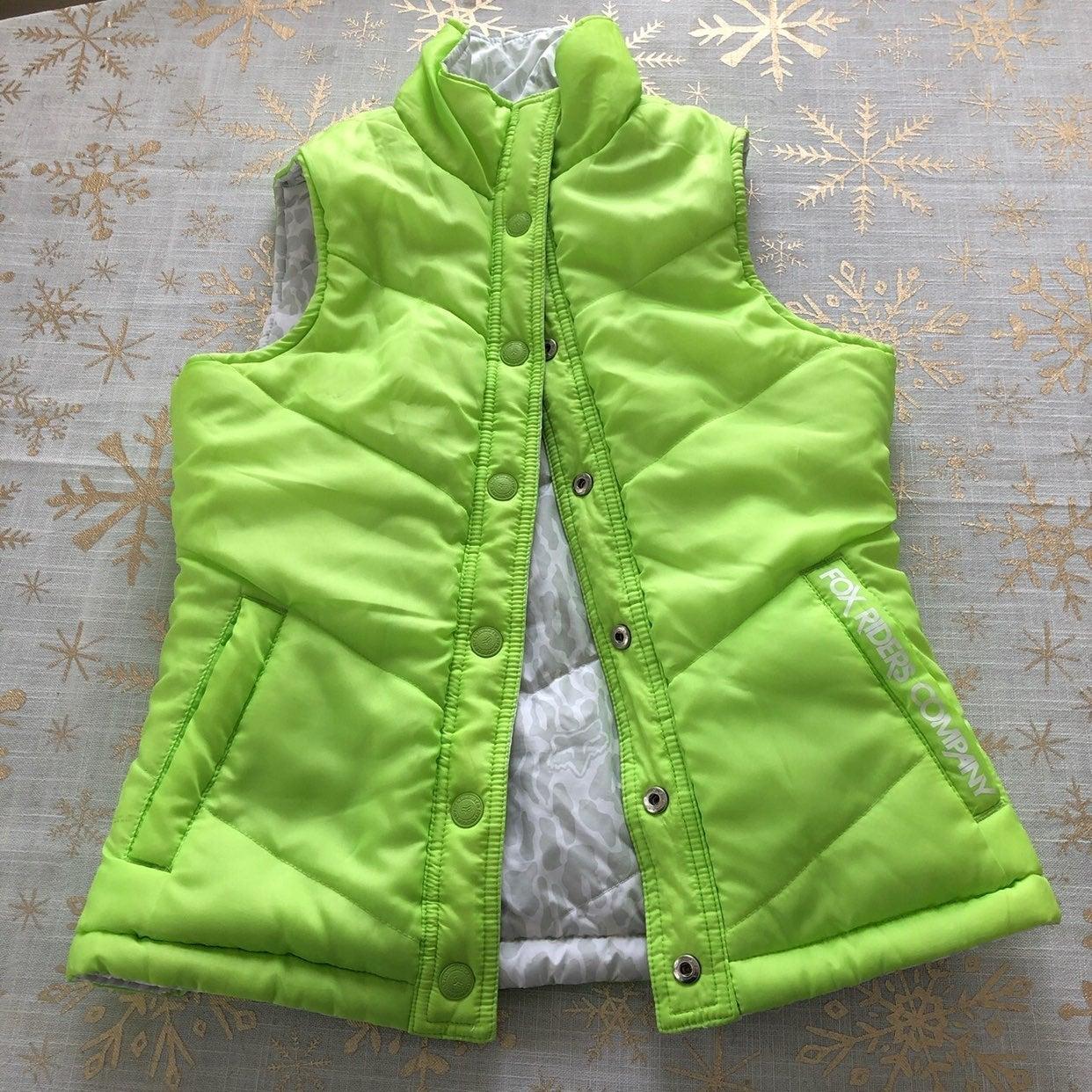 Fox reversible green puffer Vest