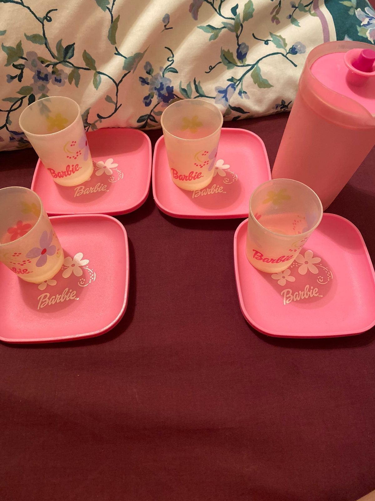 Vintage Barbie tupperware set