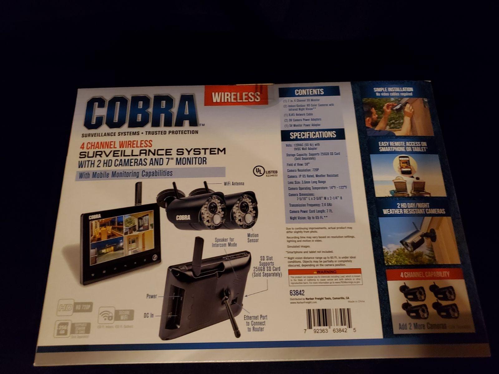 Cobra Surveillance System 4 channel wire