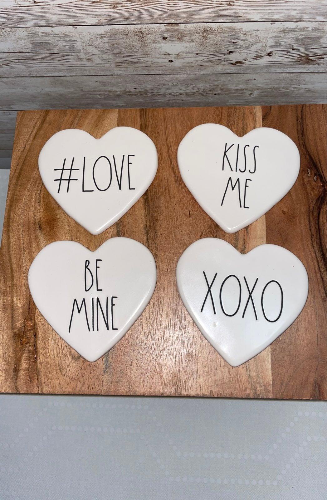 Rae Dunn Valentine's Day coasters 4 pk