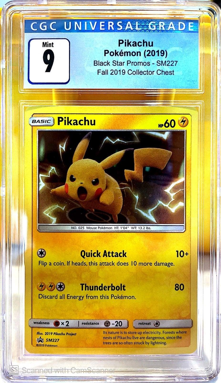 Pikachu SM227 CGC 9
