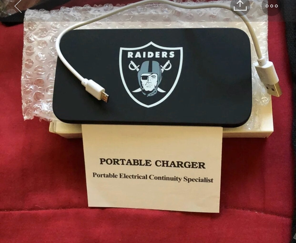Raiders Portable Charger
