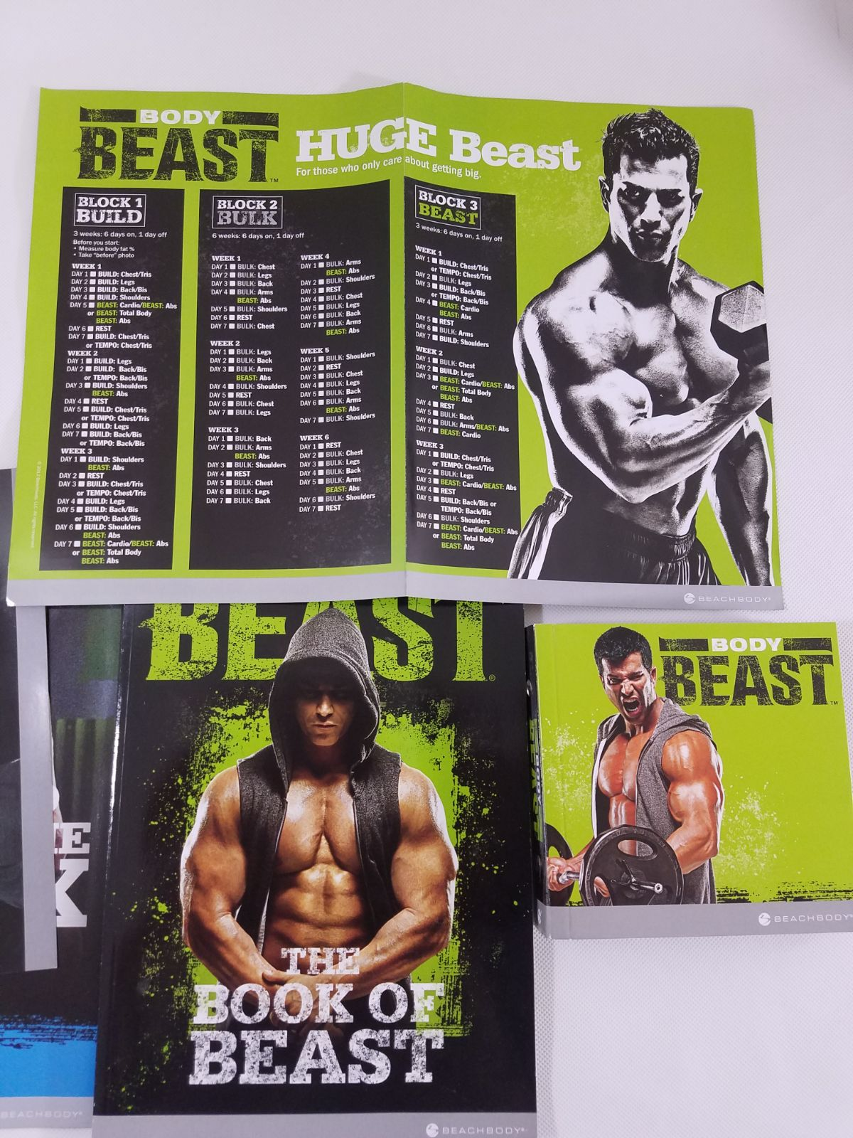 Body Beast Workout 7 DVDs and Book