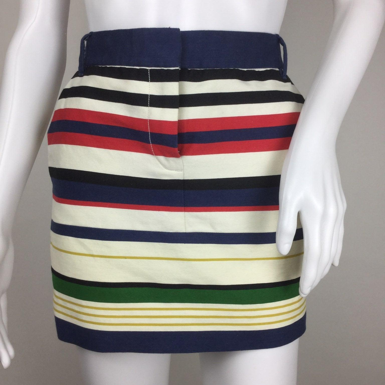 J.crew Striped Mini Skirt Size 0