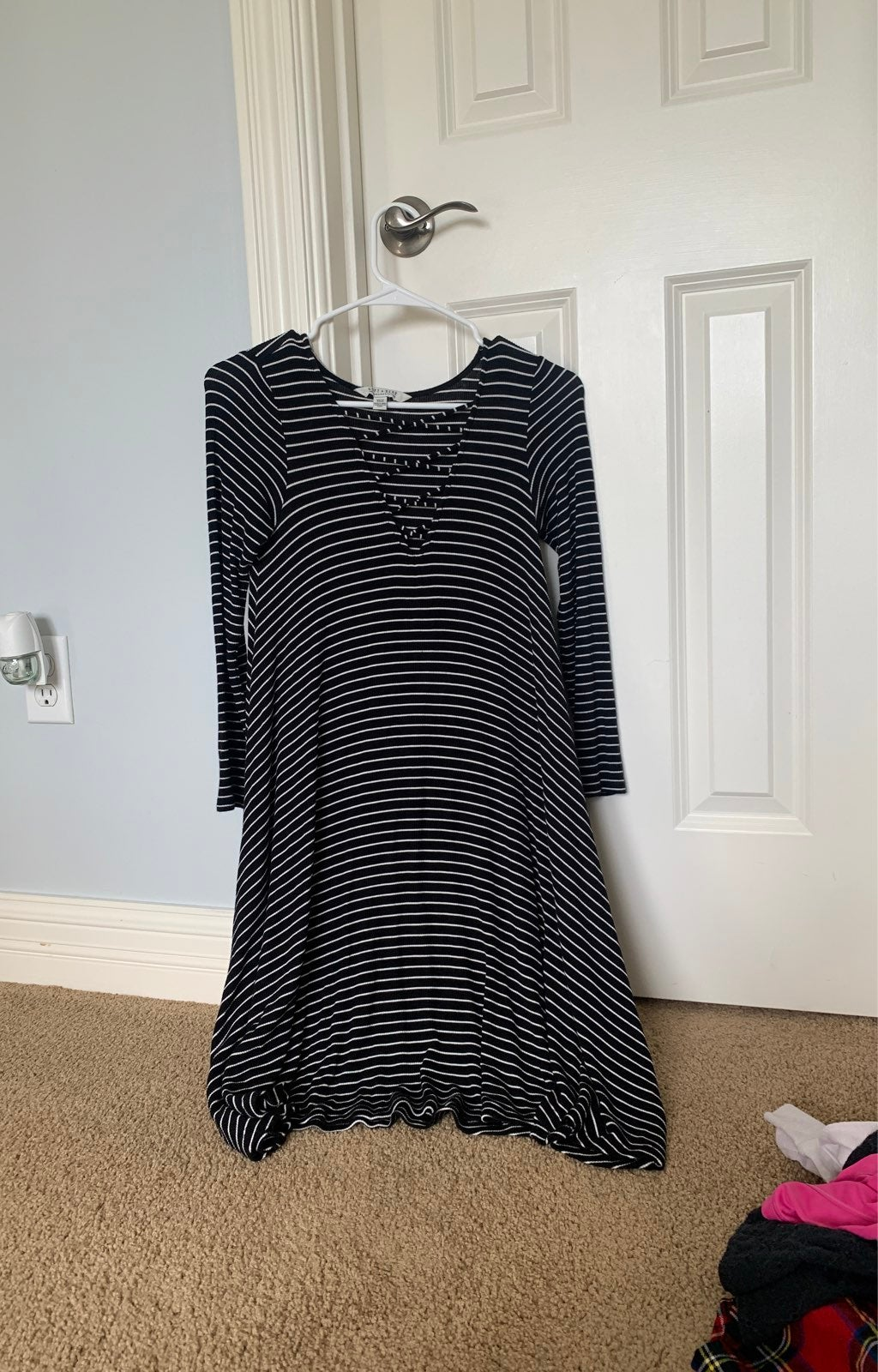 American Eagle Striped Long Sleeve Dress