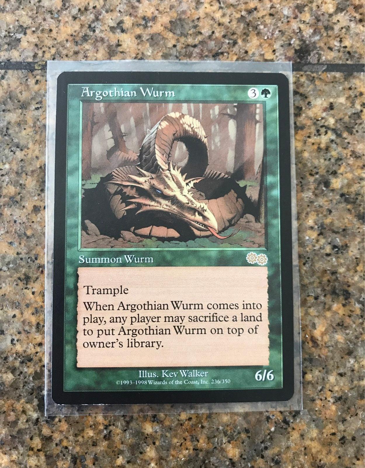 MTG Argothian Wurm card