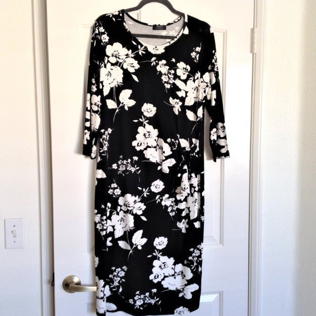 Papaya Black & White Midi Dress - NWT 14