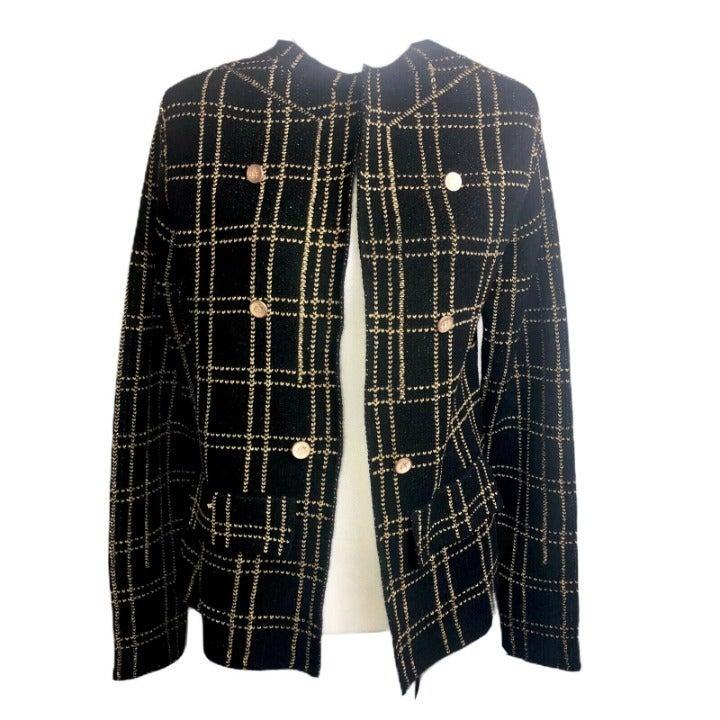NWT Sioni Metallic Gold Stretchy Jacket