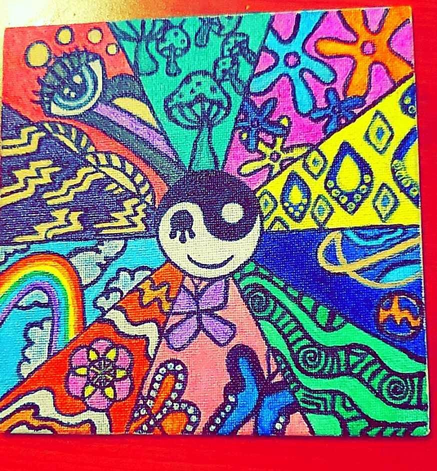 Trippy Vibes Canvas Art