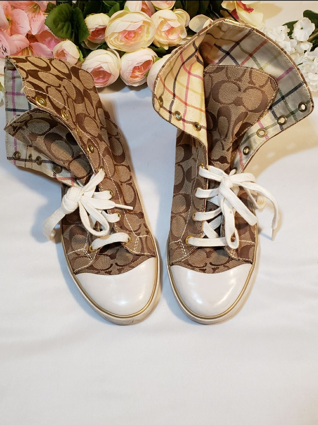 Authentic Coach high top sneakers