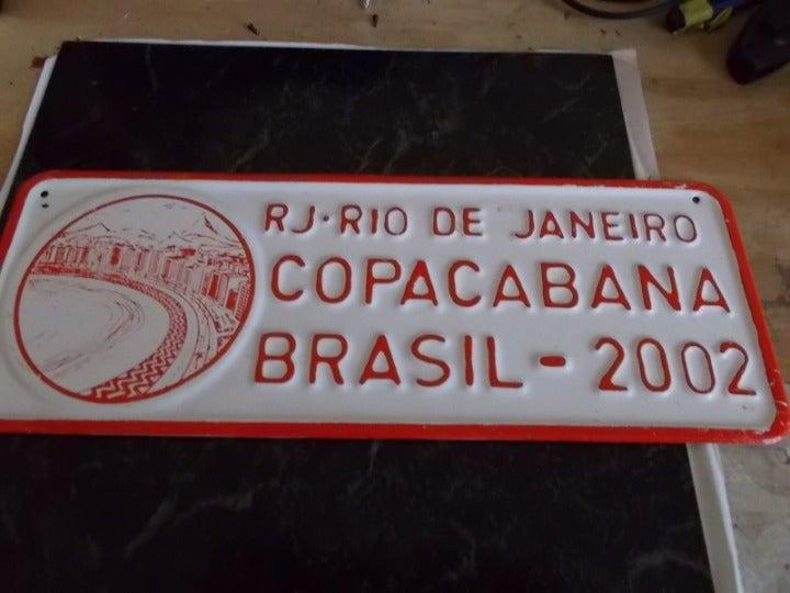 brazil rio de janeiro souvenir license p