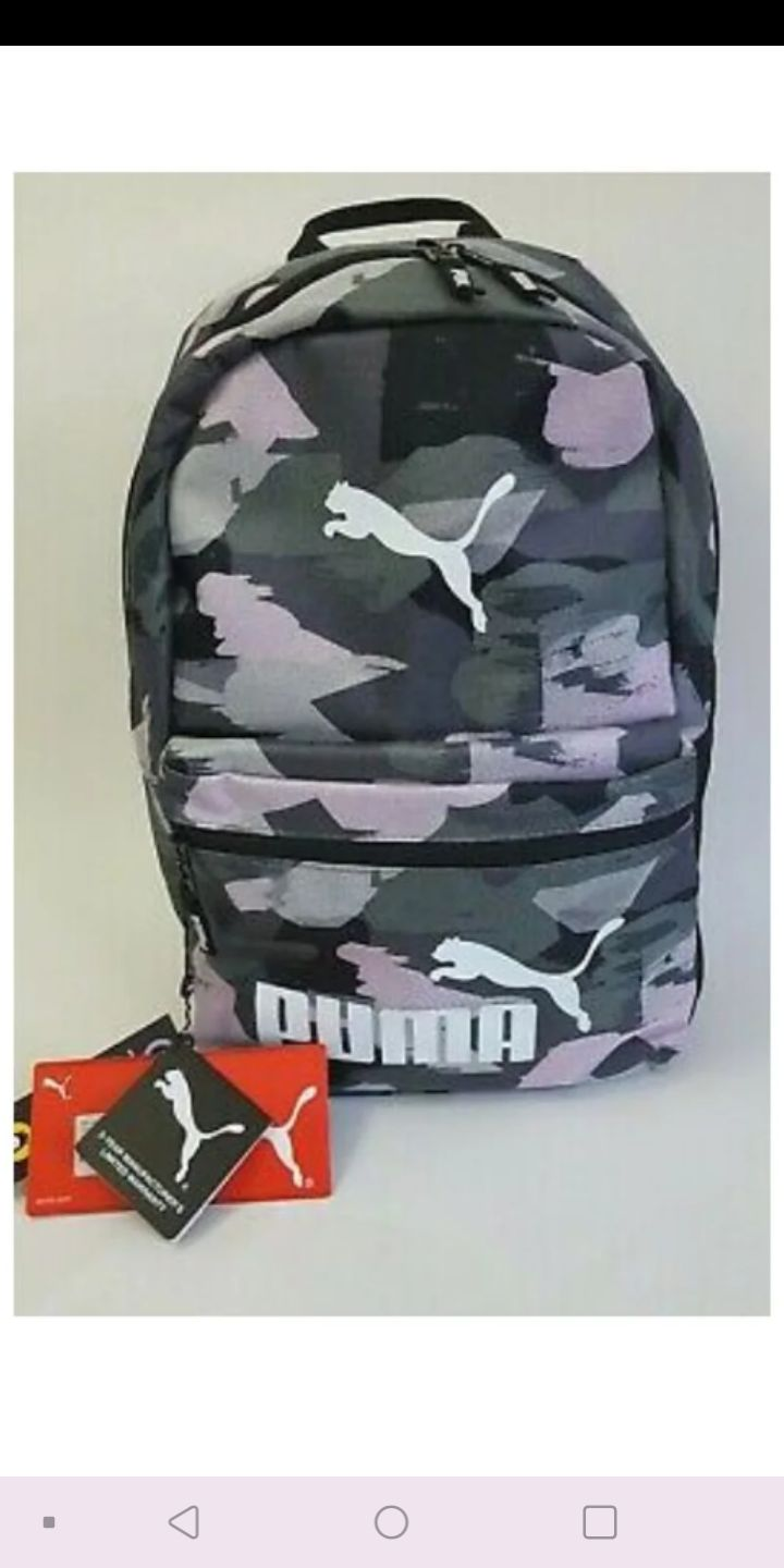 """NEW! Puma 18.5"""" Backpack Pink Gray"""