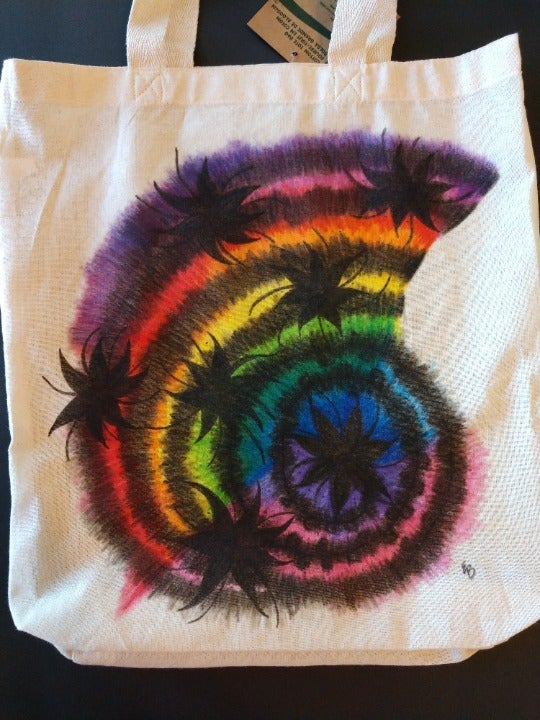 Rainbow Nautilus Reusable Grocery Bag