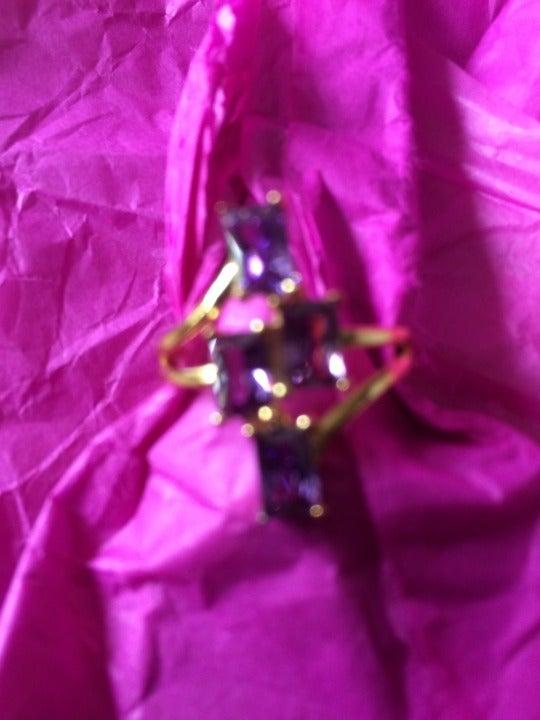 Ginger Lyne Purple cz ring size 8