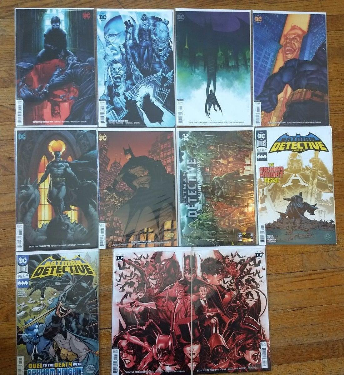 DETECTIVE COMICS LOT of 11 comic books,