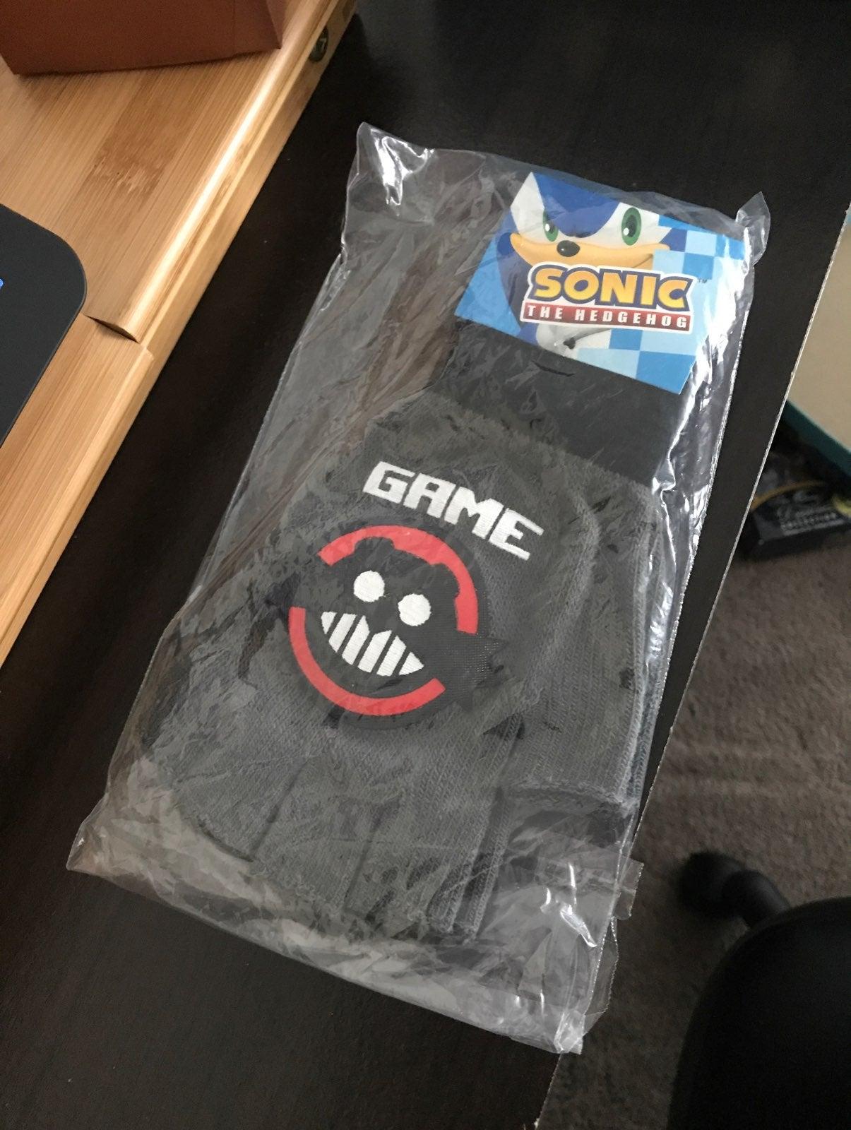 Sonic Doctor Eggman Fingerless Gloves