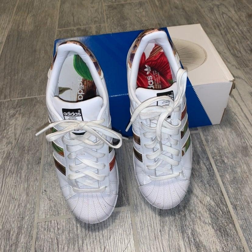 Adidas Floral Shoes | Mercari