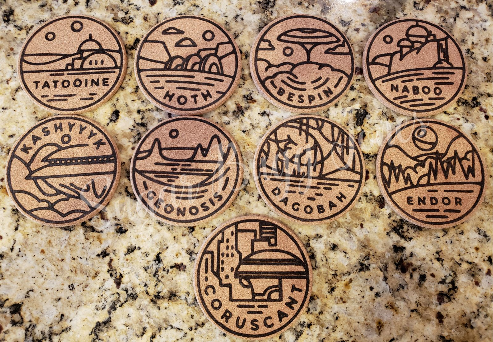 9  Handmade Star Wars Inspired Coasters