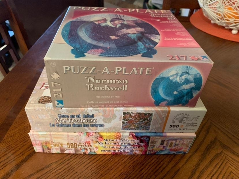 Lot 3 puzzles new/used Wuunden-Rockwell