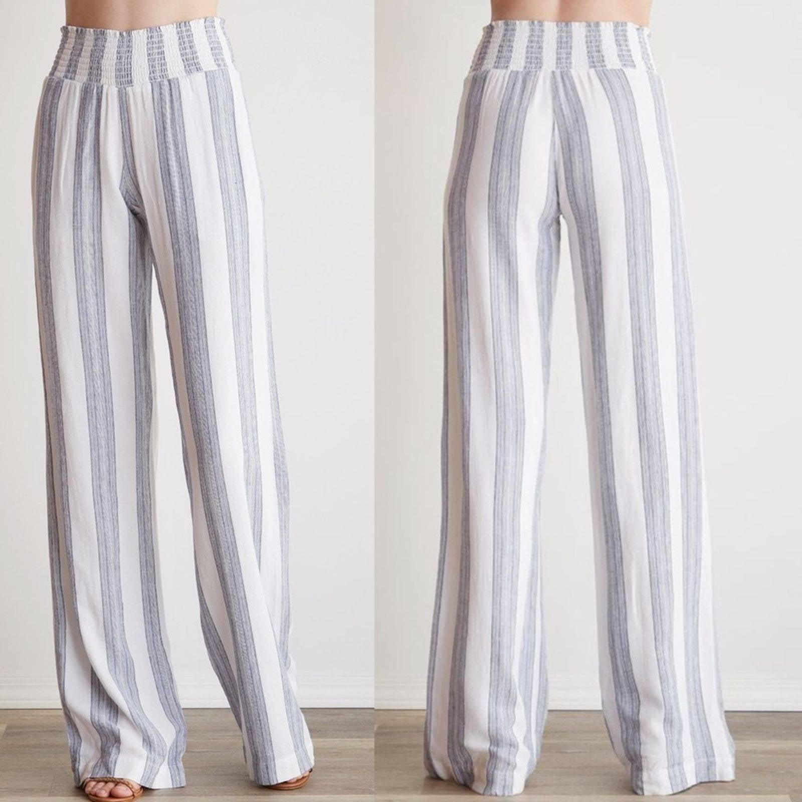 Bella Dahl Striped Wide Leg Pants