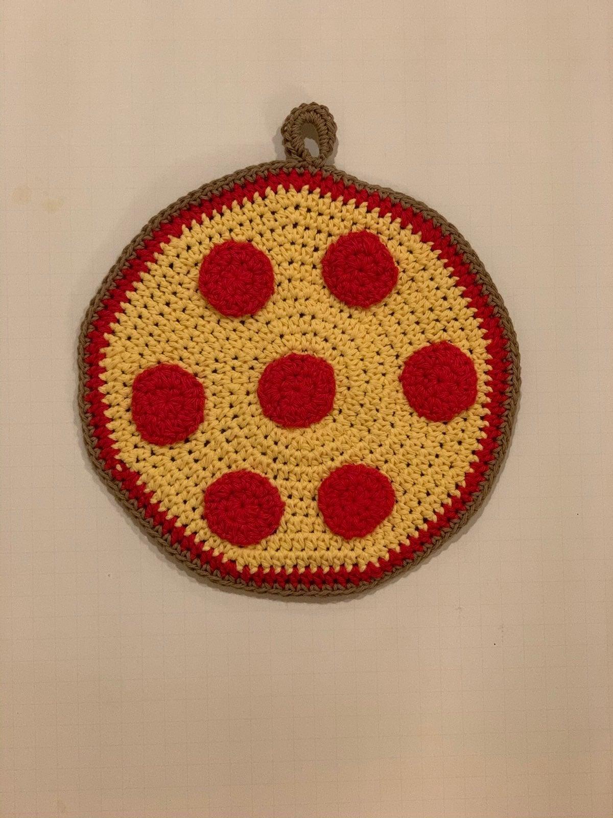 Handmade Pepperoni Pizza Potholder