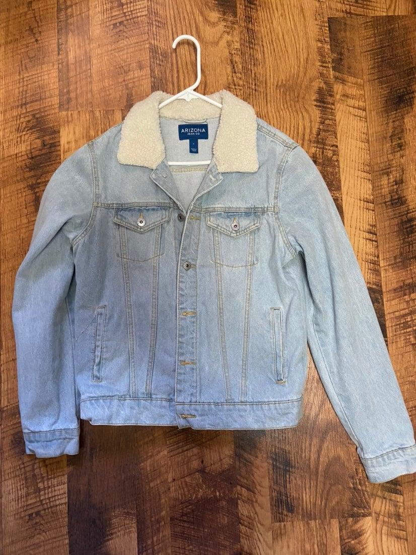 Arizona Jeans Sherpa Collar Jean Jacket