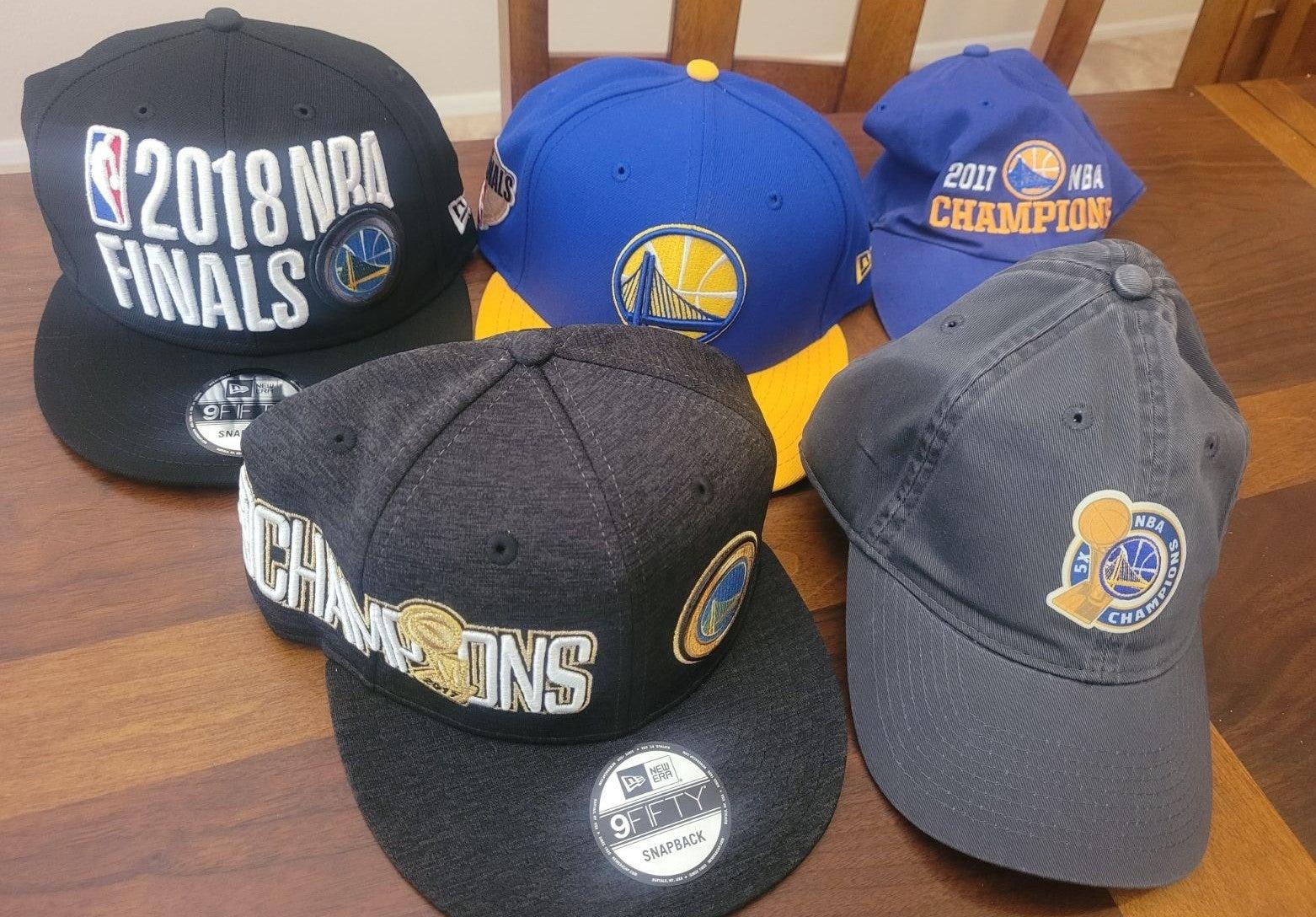 Golden State Warriors caps hats lot 5