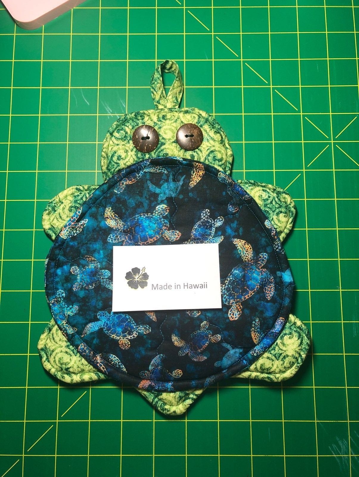 Handmade honu pot holder/hot pad