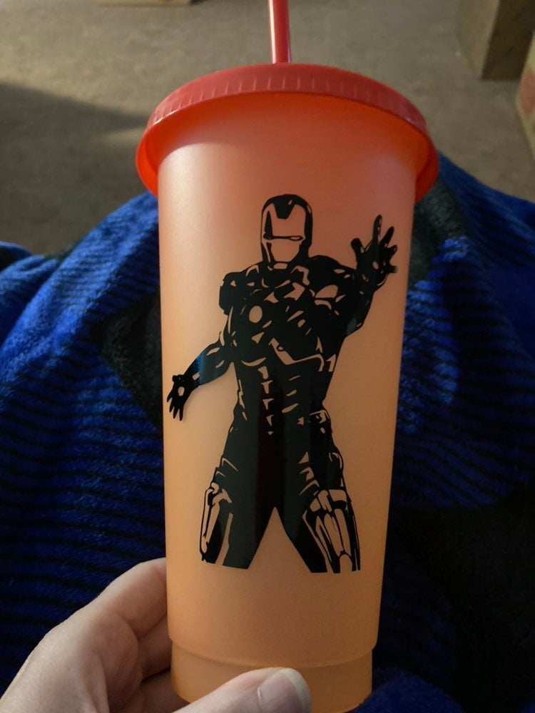 Iron man color changing cup