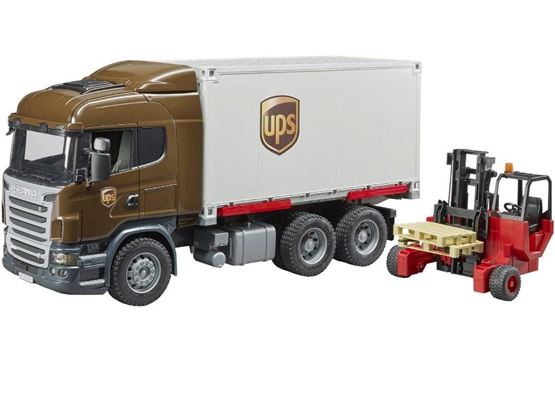 Bruder UPS Truck w/ Forklift NEW
