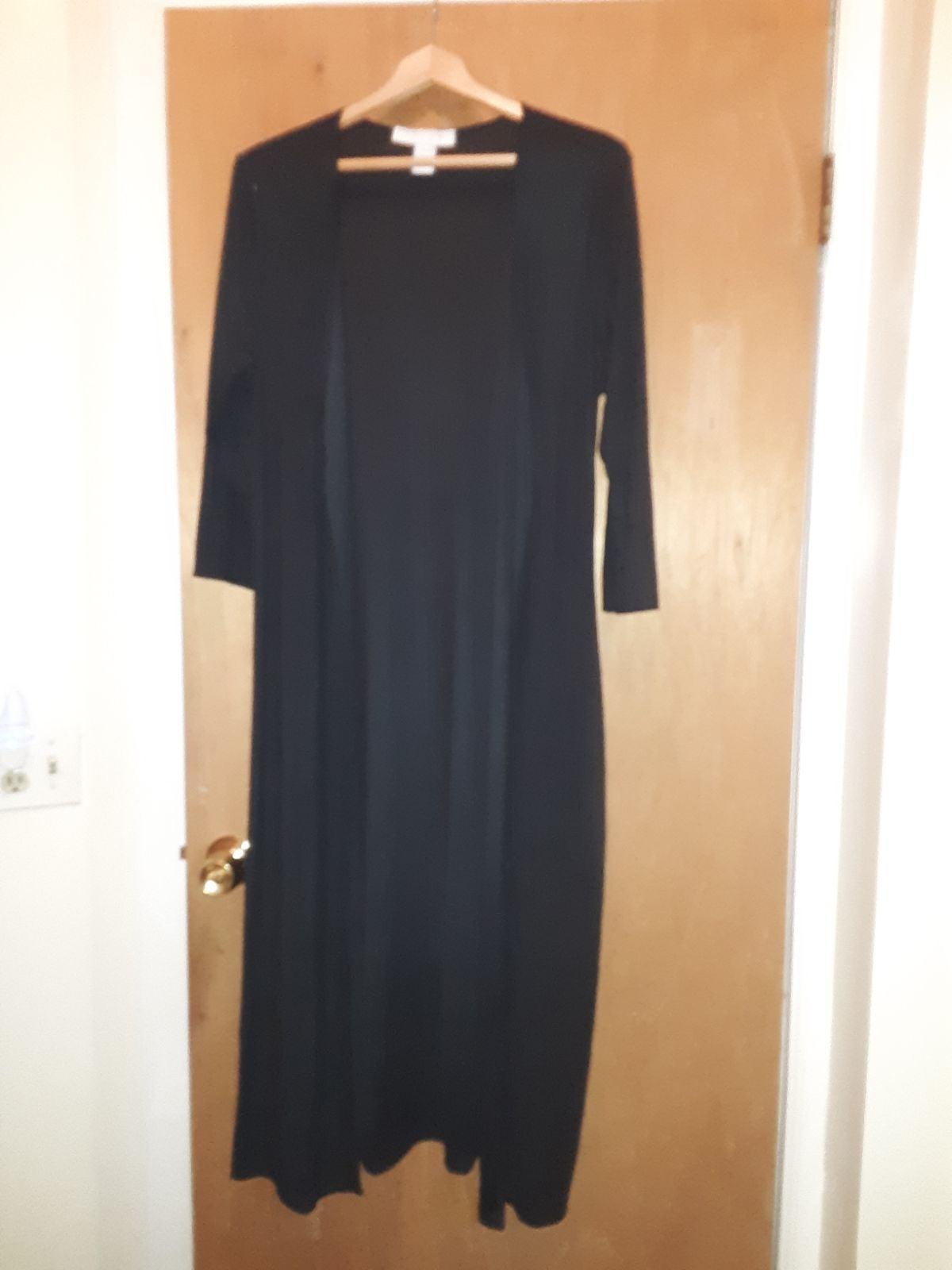 Long black Duster kimono-like over piece