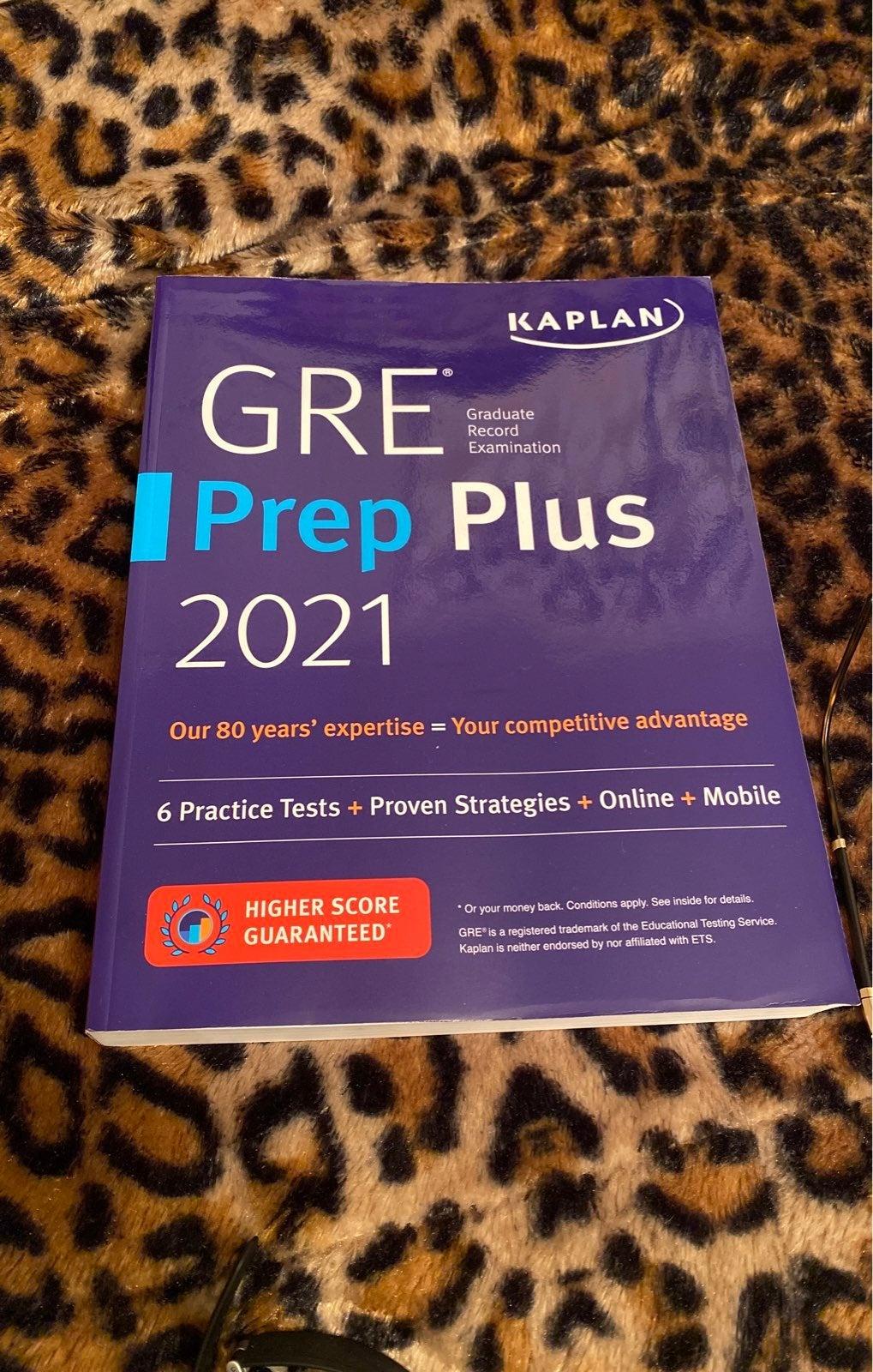 Brand new GRE 2021 prep plus book