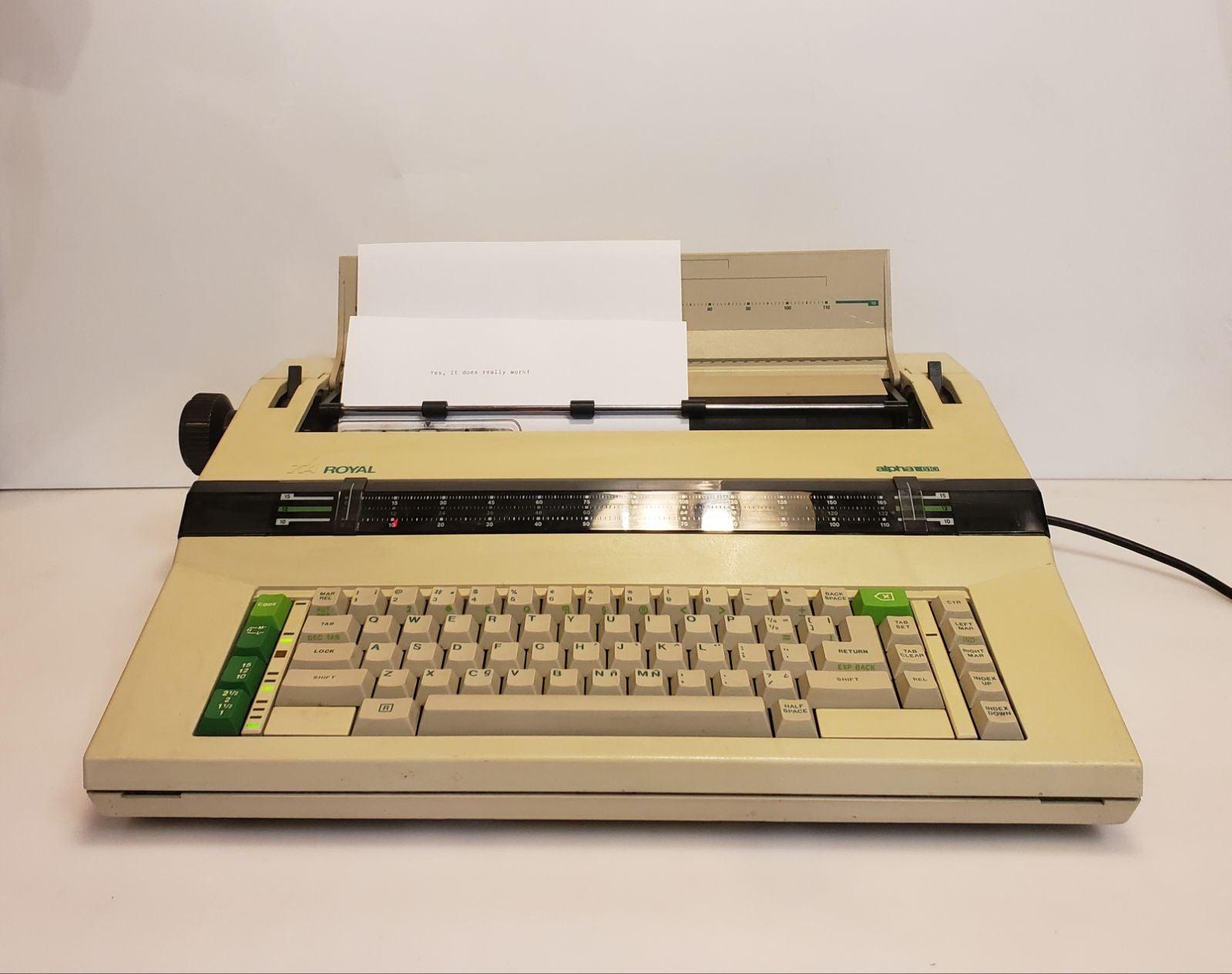 Royal Alpha 610 Electric Typewriter