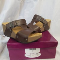 7b673b736 Agape Chocolate Wedge Sandal