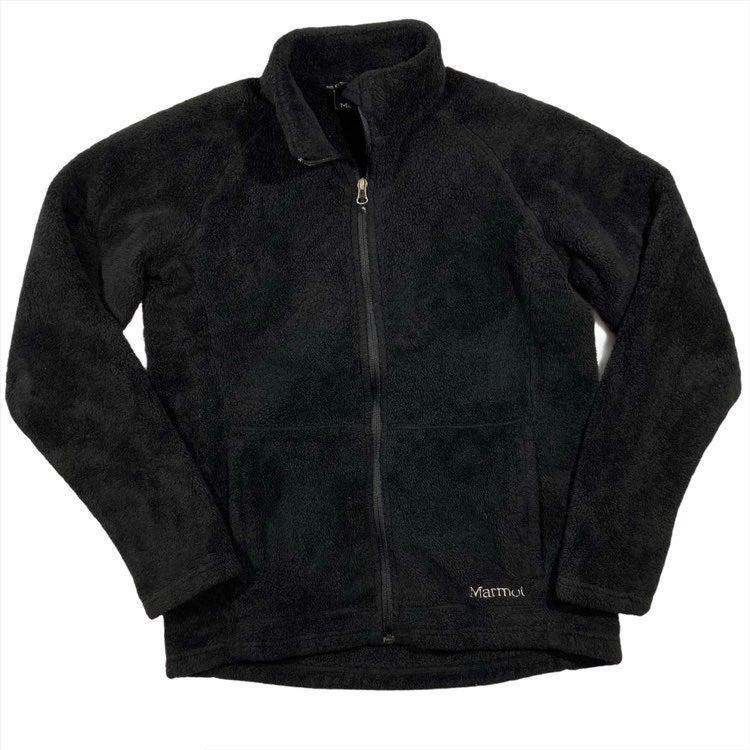 Marmot Black Fleece Jacket Large