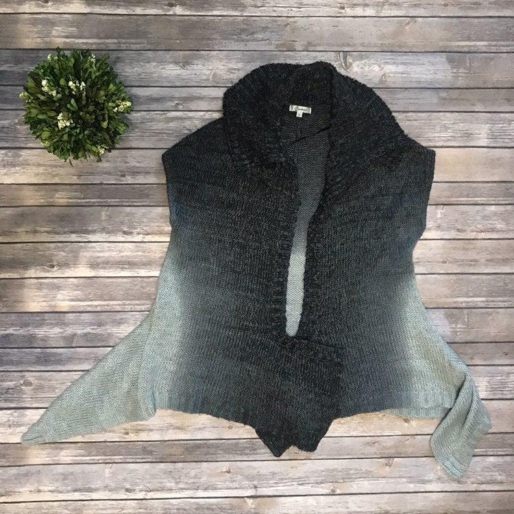 L Carducci Ombré Gray Sweater Vest 525