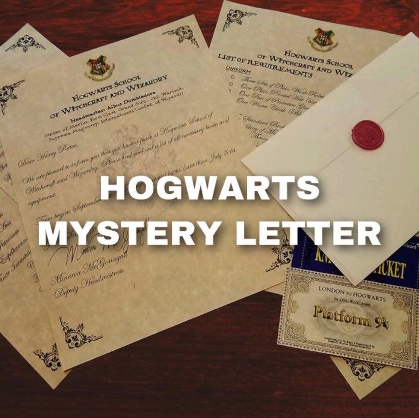 hogwarts mystery letter !