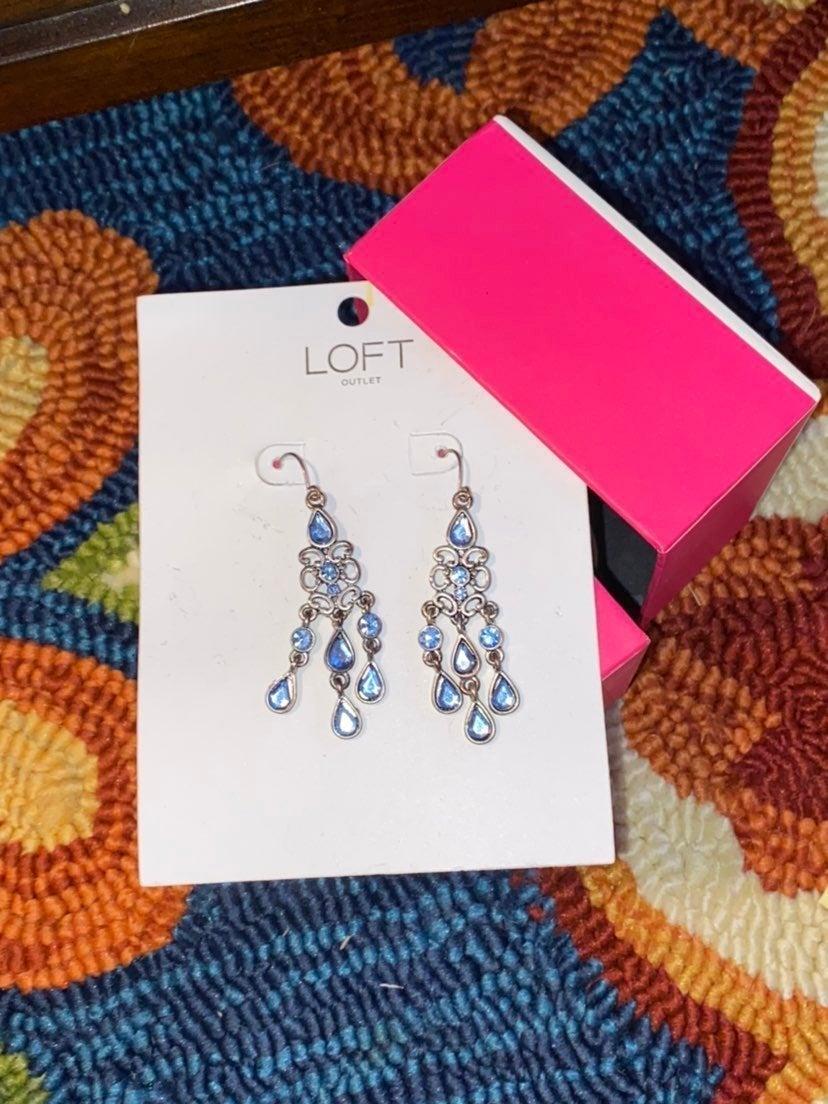 LOFT - Blue, Chandelier Earrings NWOT