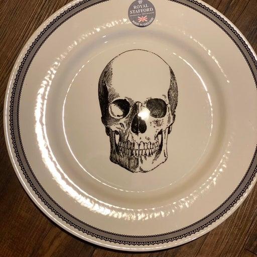Royal Stafford Halloween skull plates