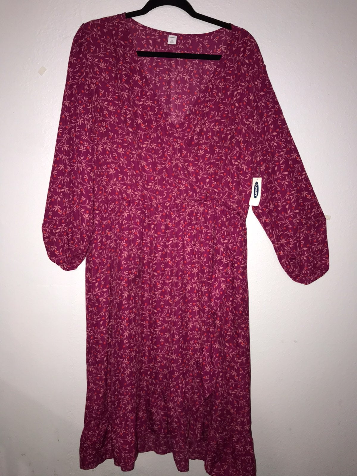 Old navy ruffle dress nwt size xl zip up