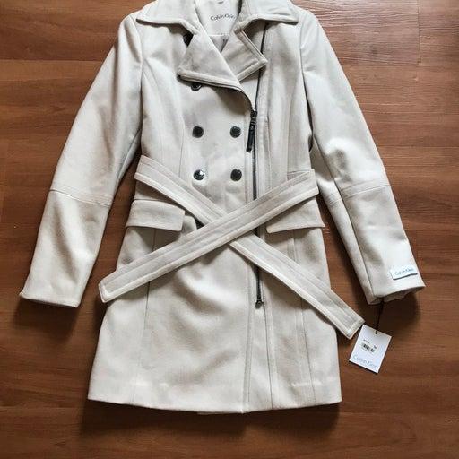NWT Calvin Klein Pea Coat. Size 2