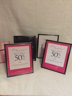 VS Pink Picture Frames Display Prop