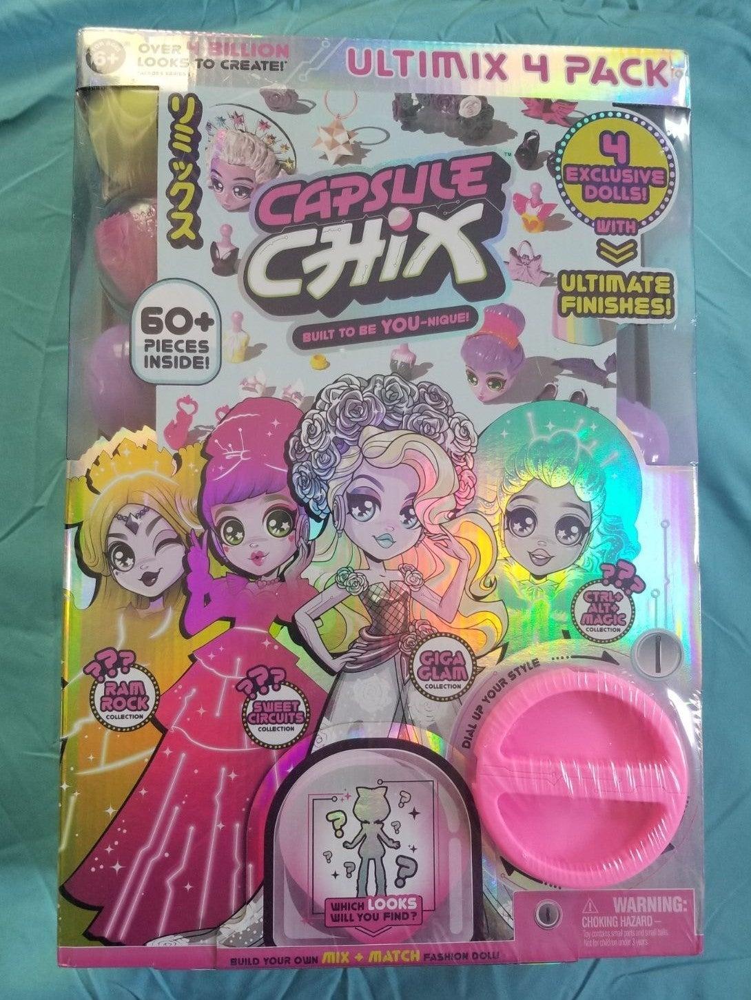 Capsule Chix Ultimix & Toy Bundle NWT