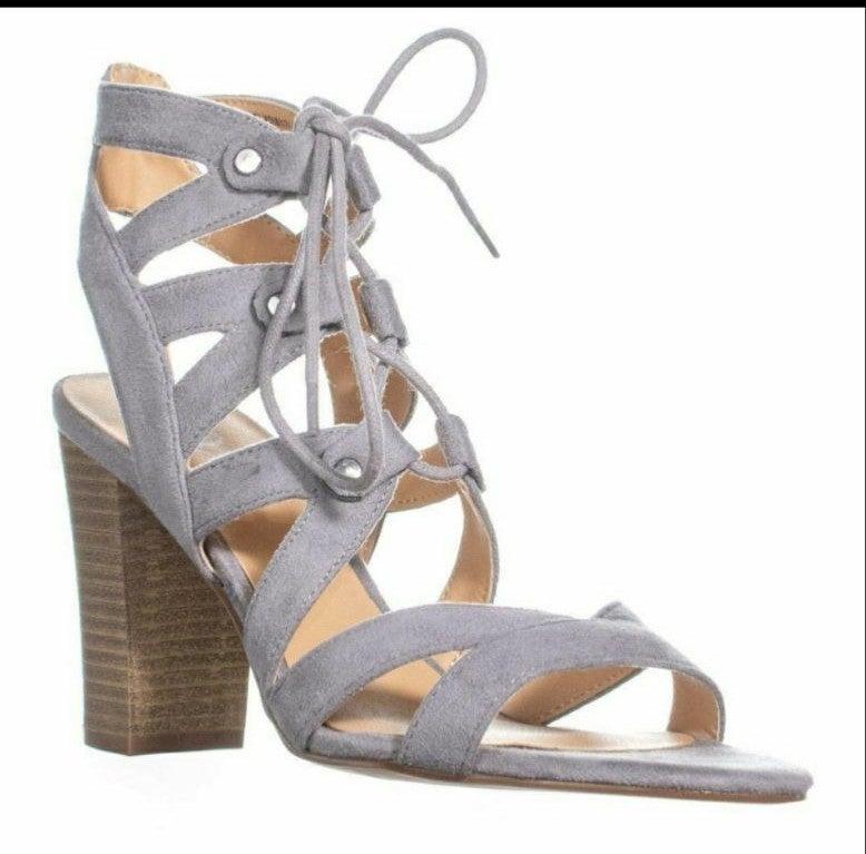Xoxo Balta Heel Sandals size 8 Gray