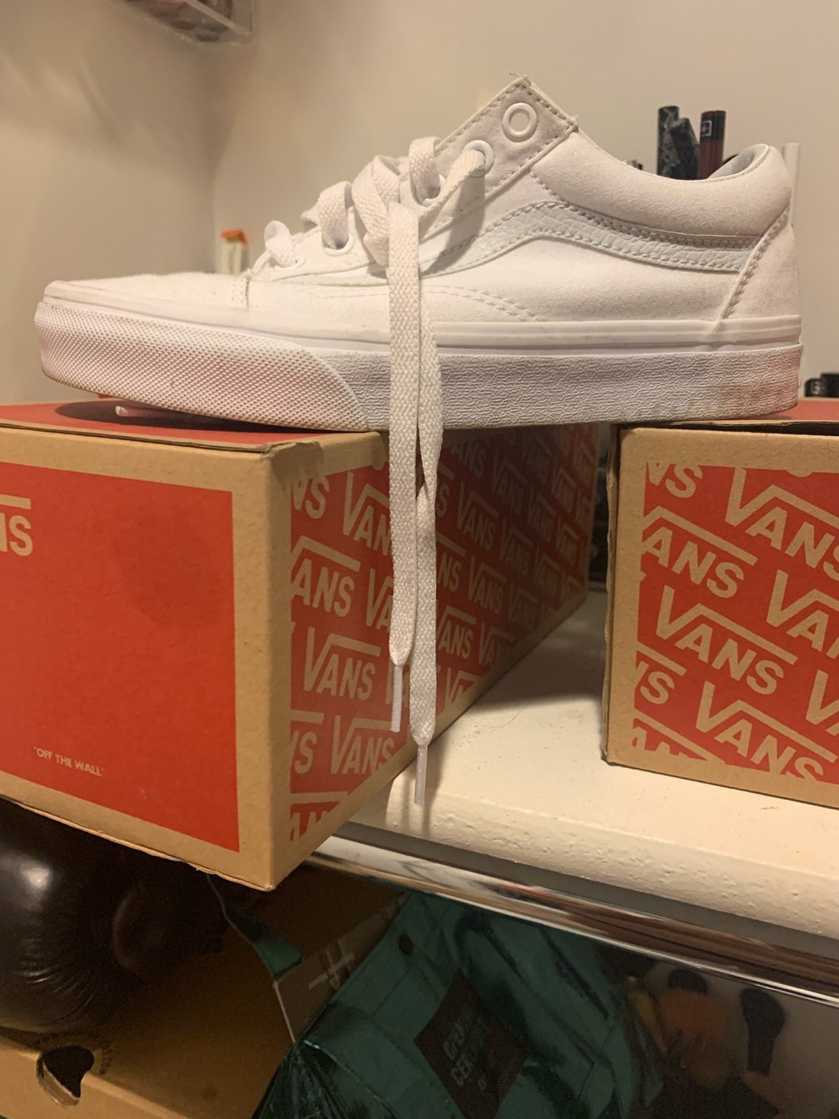 White Vans Size 7 by Vans