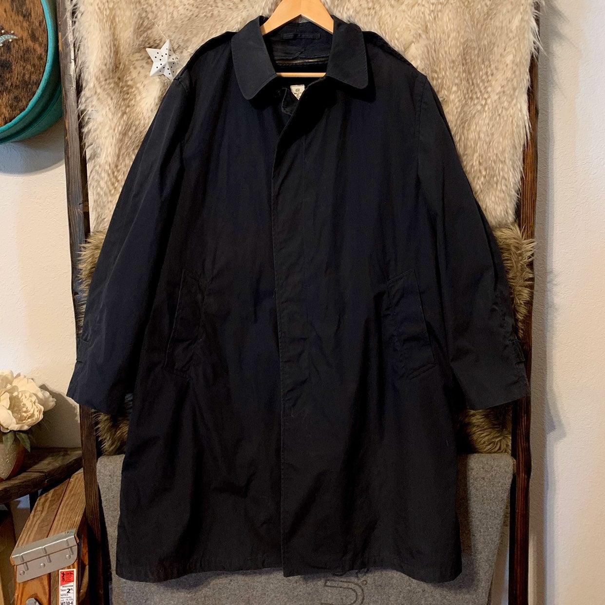 Vintage Military Black Coat