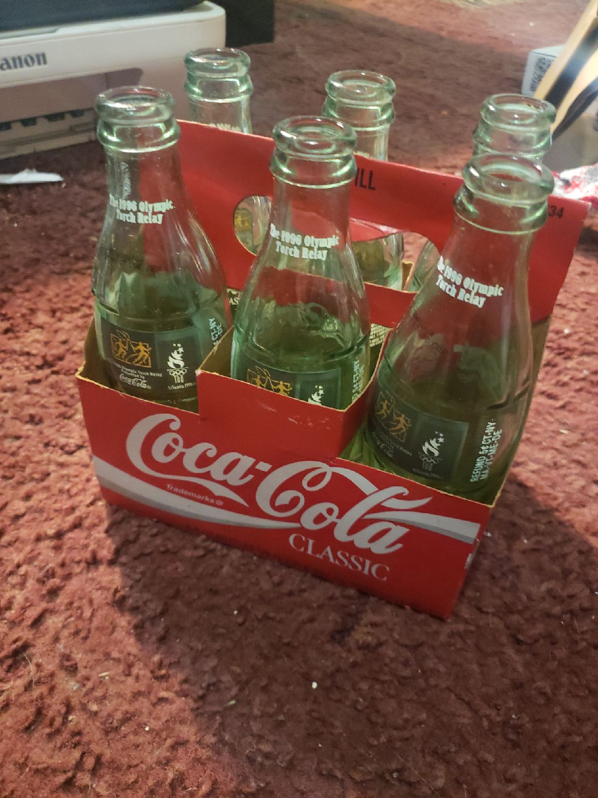 Coca cola bottles from the 1996 olympic