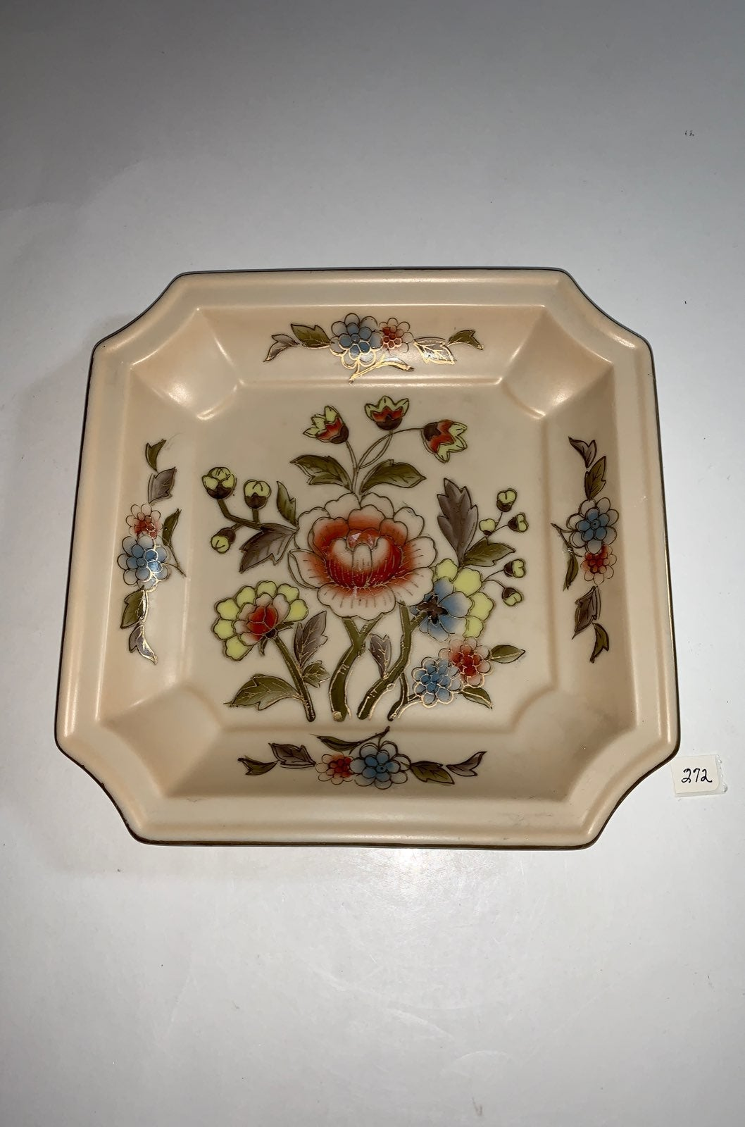 Vintage Andrea Octagon Floral Plate