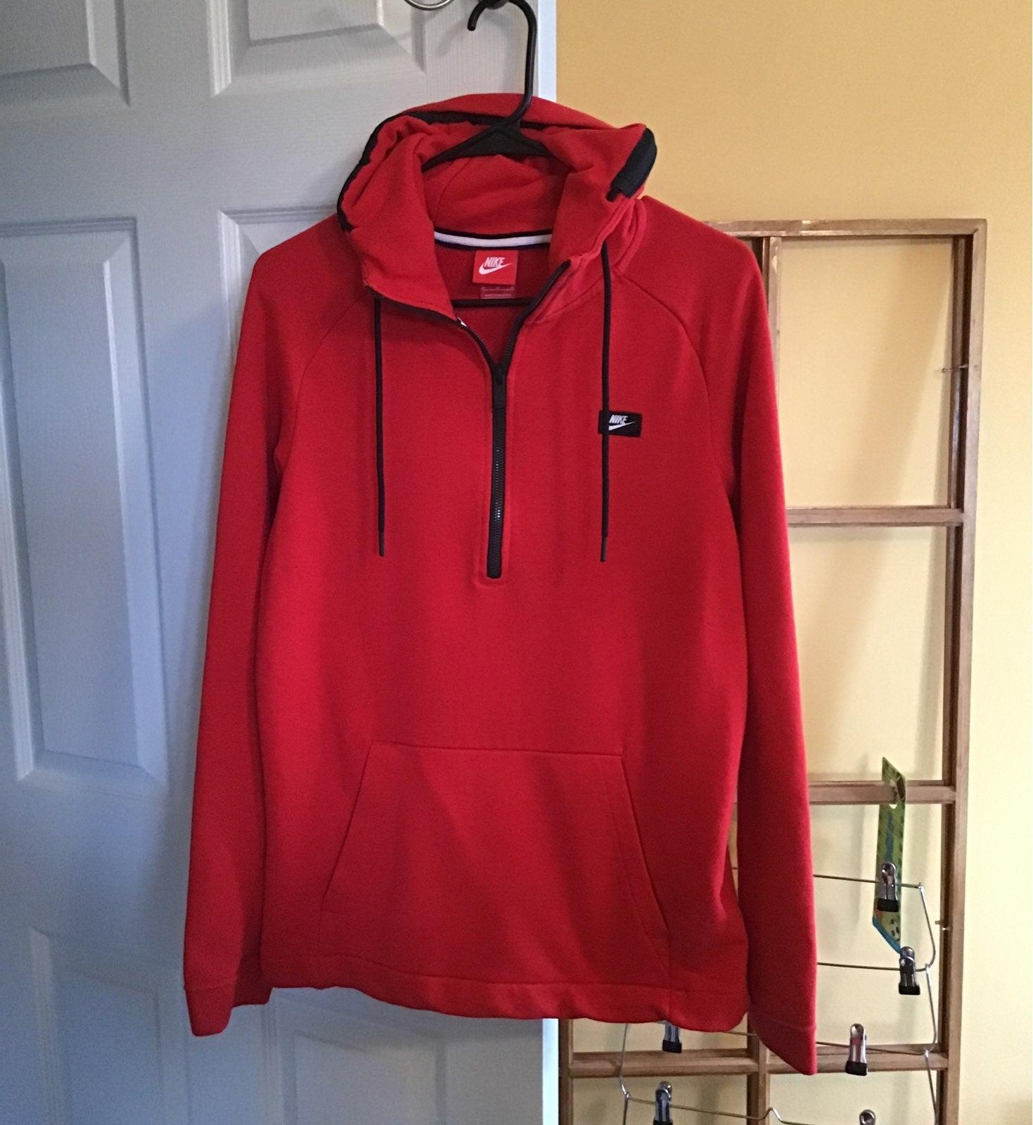 Nike hooded pullover 1/4 zipper mens M